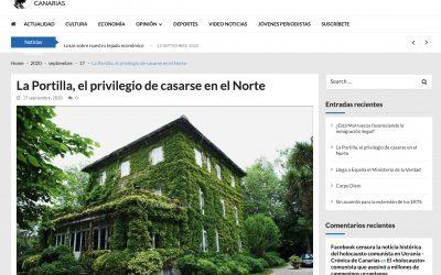 """CRÓNICA DE CANARIAS: """"La Portilla, el privilegio de casarse en el Norte"""""""